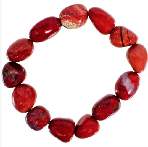 Jewelry & Watches - Genuine Tumbled Red Jasper Bracelet