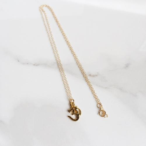 Jewelry & Watches - Om Stamp 14k Gold Filled Charm Necklace, Dainty