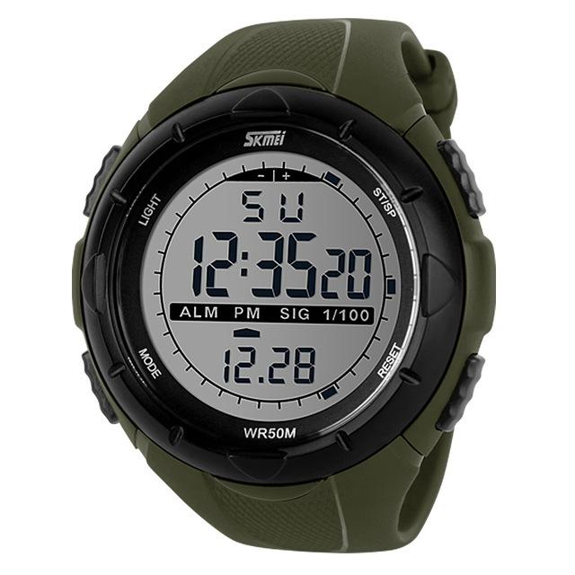 Men's Big Dial Sports Digital Wristwatches