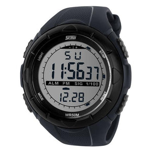 Men's Big Dial Sports Digital Watch