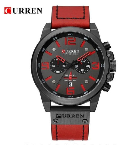 Image of Men's Luxury Leather Sports Watch