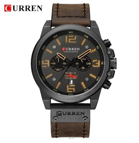 Men's Luxury Leather Sports Watch