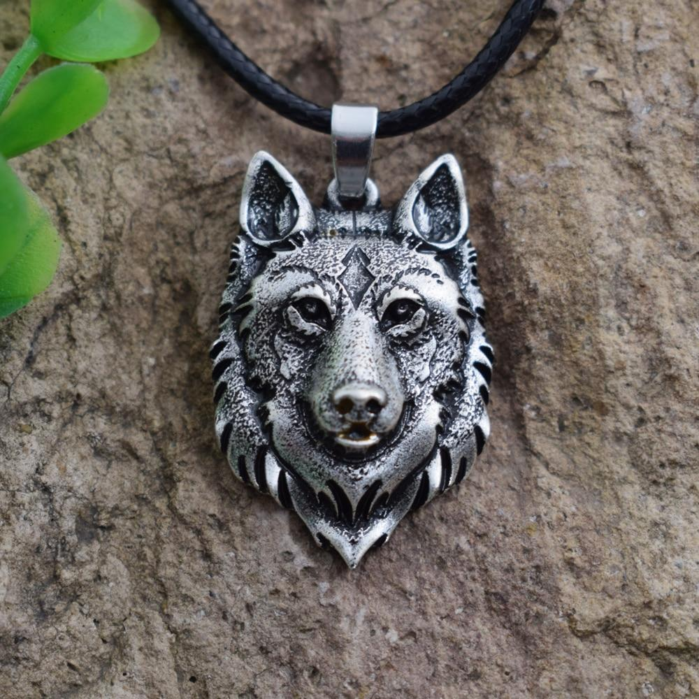 Men's Wolf Head Viking Necklace