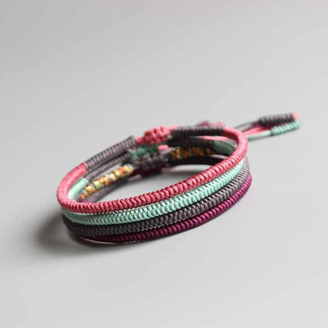 Image of Handmade Tibetan Buddhist Lucky Rope Bracelets  - Happiness