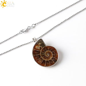 Snail Shell Fossil Necklace