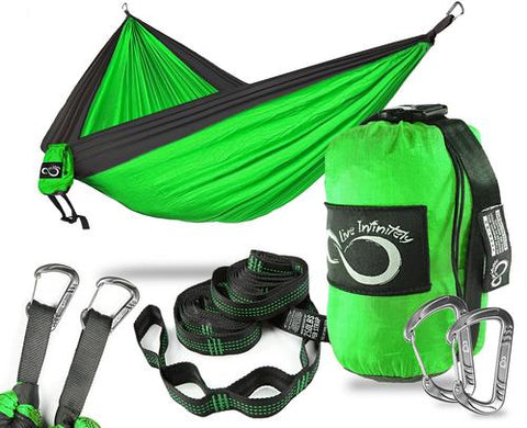 Image of Sports & Outdoor - Double Camping Hammock With Upgraded Features