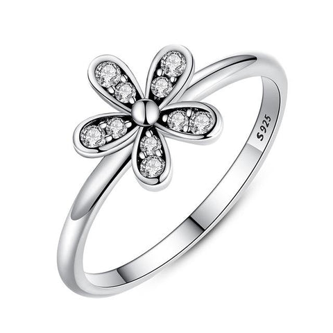 Sterling Silver Dazzling Daisy Ring