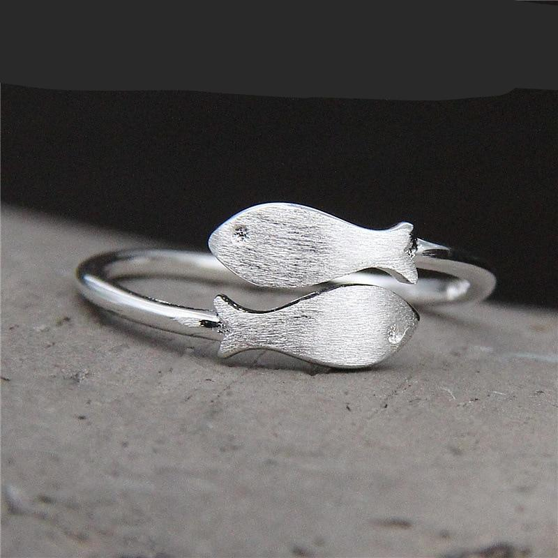 Sterling Silver Women's Fish Ring