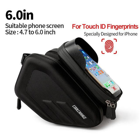 Image of Waterproof Double Bike Bag With IPhone Holder