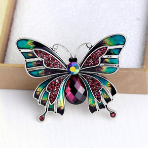 Whimsical Enamel Butterfly Brooch