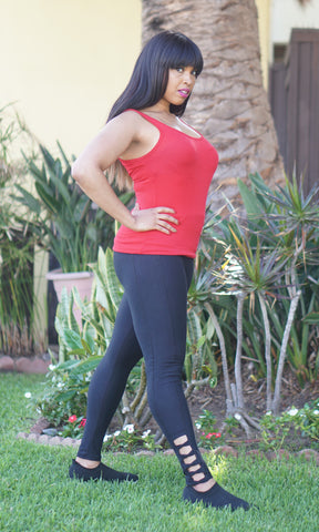 My lala leggings squat proof active wear plus size to small size model