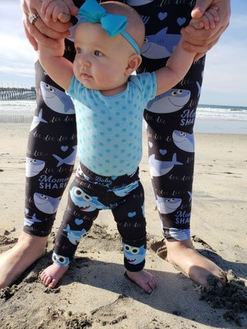 Baby shark doo doo doo alexa my lala leggings baby girl in perfect shark leggings