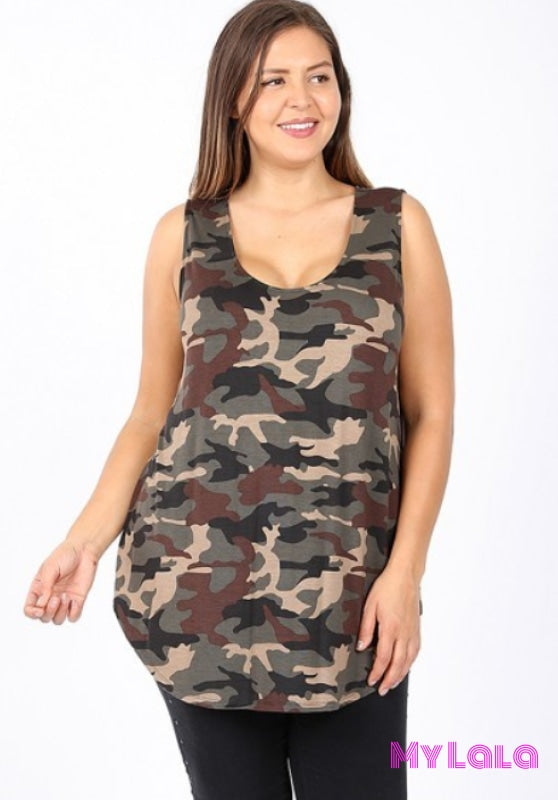 Curvy Camo Tunic - My Lala Leggings, soft leggings, buttery soft leggings, one size leggings