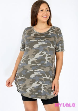 1 1811 Curvy Dusty Camo Short Sleeve
