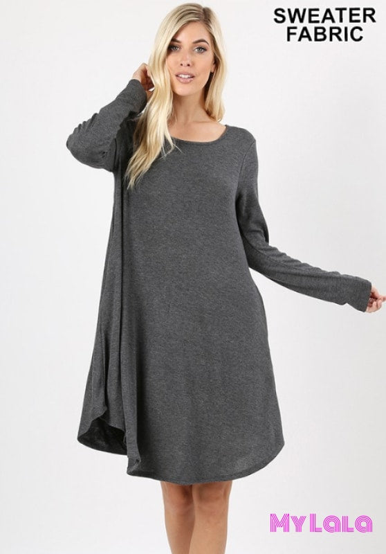 1 2381 Dress Rochester Sweater Dress (Charcoal)