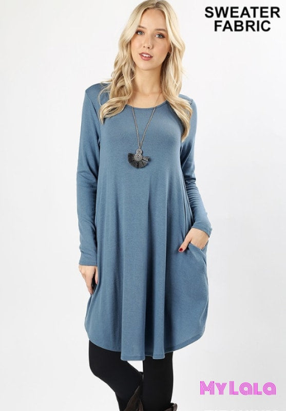 1 2381 Dress Rochester Sweater Dress (Titanium)