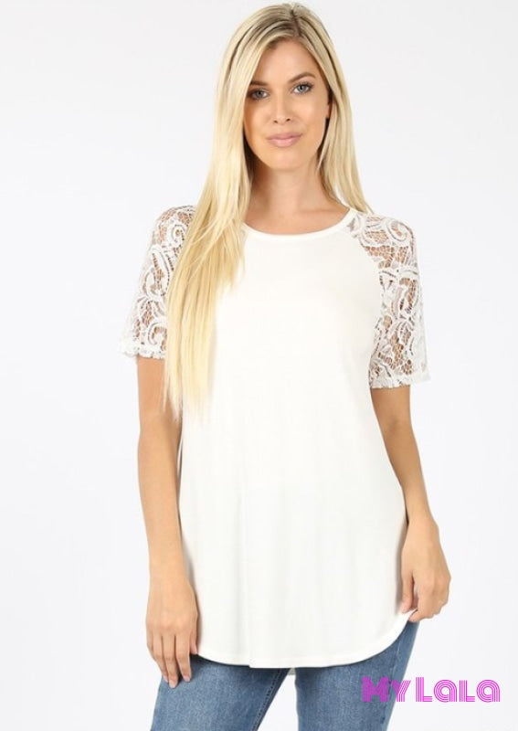 1 5553 Sarah Shoulder Lace (Ivory)