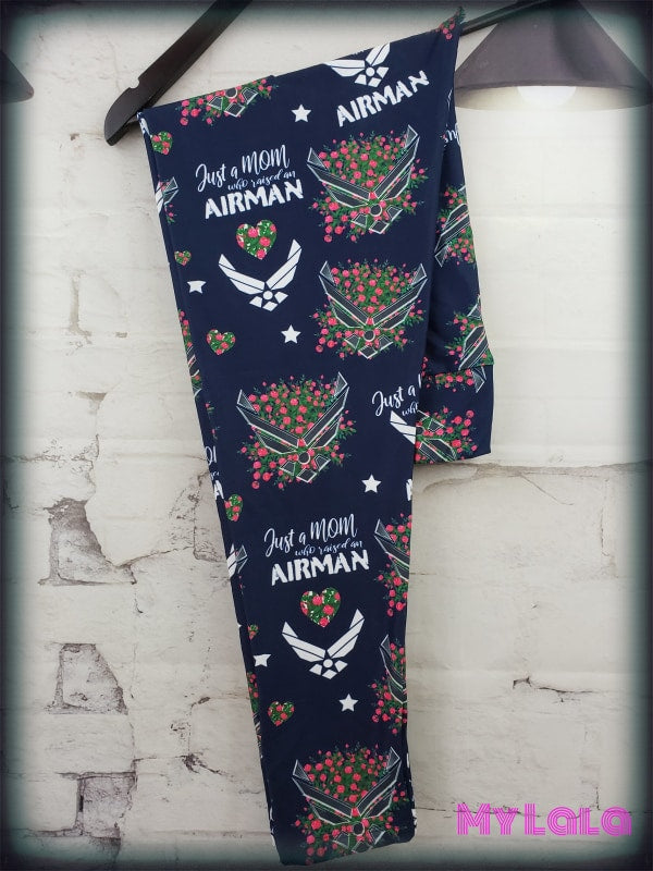 Yoga Band - Airman Mom OS (Premium) - My Lala Leggings, soft leggings, buttery soft leggings, one size leggings