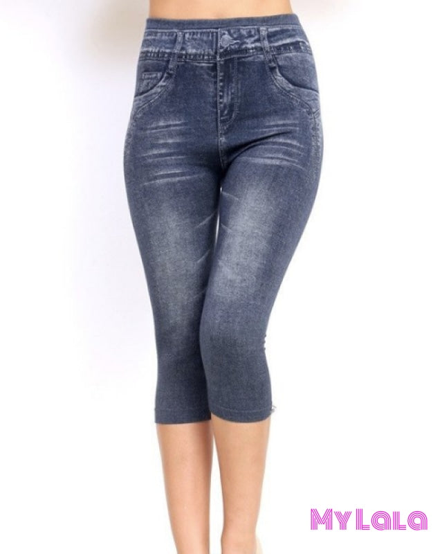 Jeggings - Capri Stonewash - My Lala Leggings, soft leggings, buttery soft leggings, one size leggings