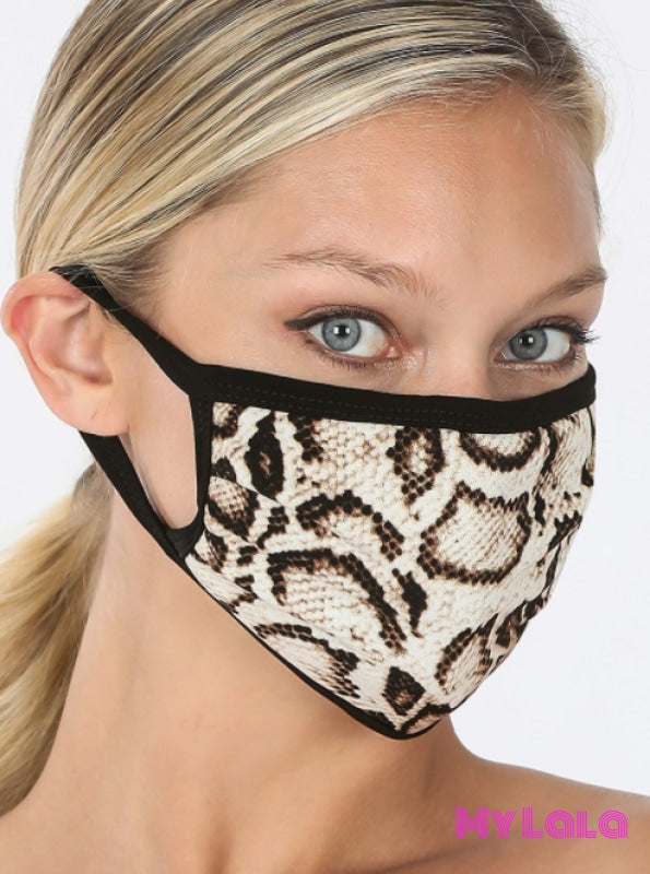 Snakeskin Mask (Brown) - My Lala Leggings