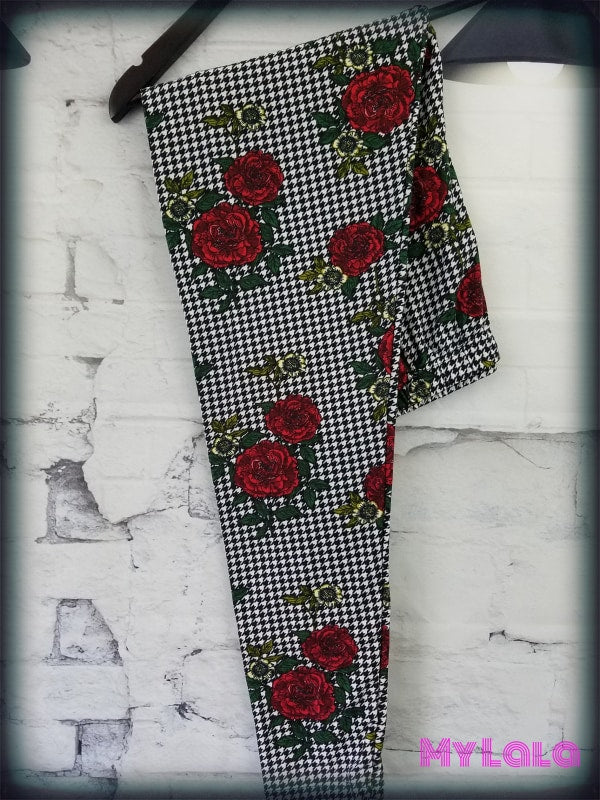 1 Curvy J080 Rose W/full Houndstooth Print