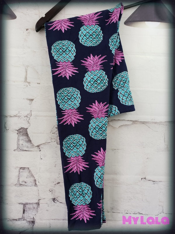 Yoga Band - Curvy Blue Pineapple - My Lala Leggings, soft leggings, buttery soft leggings, one size leggings