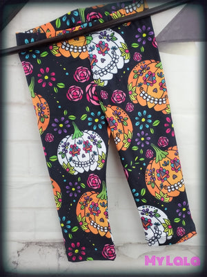 Dia de los Pumpkins Baby (Premium) - My Lala Leggings, soft leggings, buttery soft leggings, one size leggings
