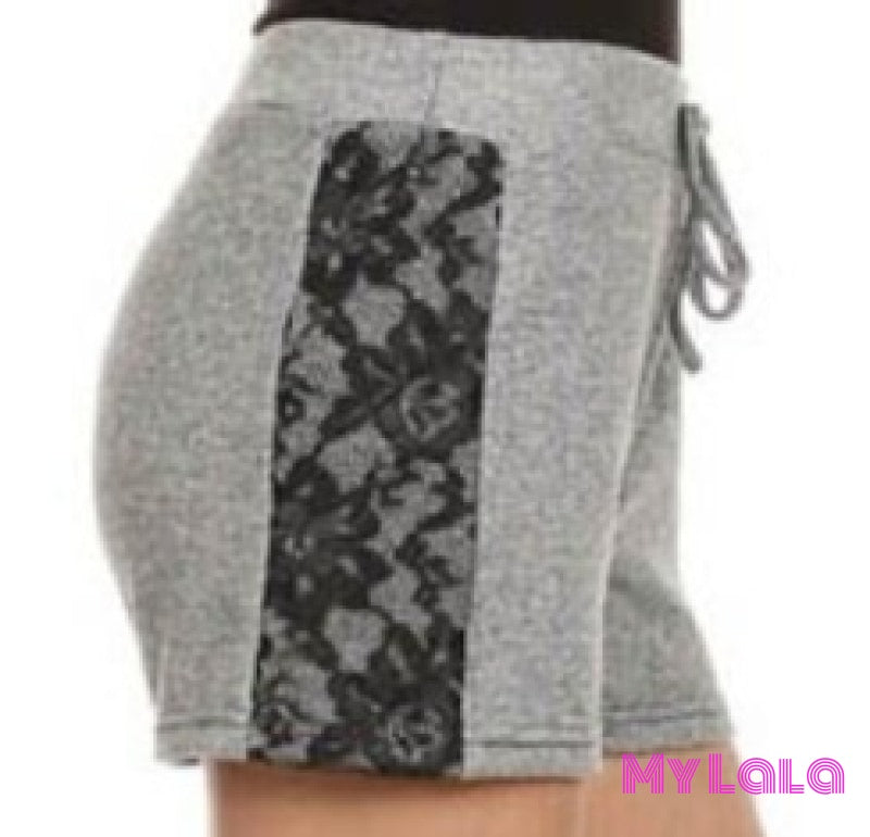 1 Ft001 Black Lace Shorts