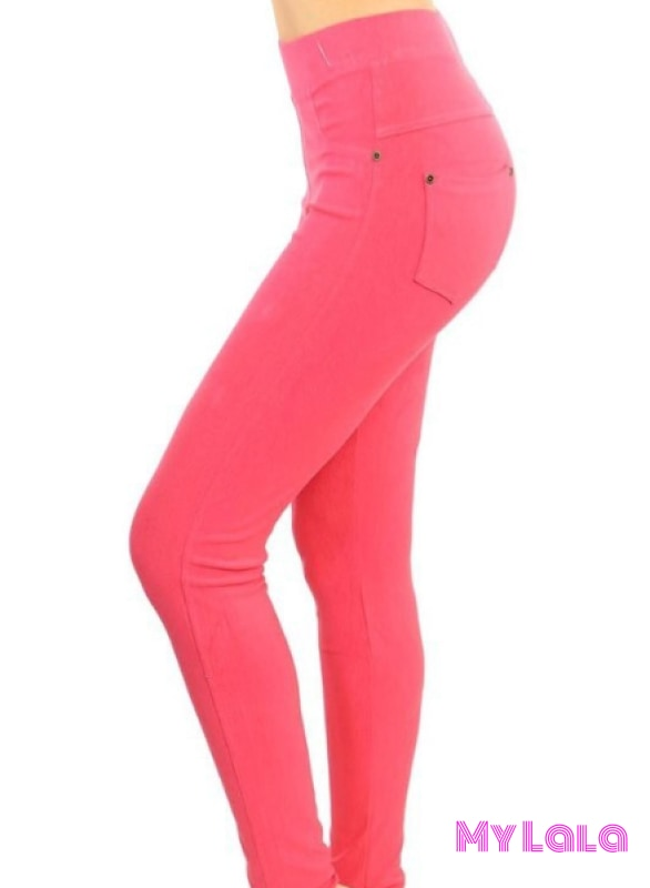 1 J04 Curvy Jeggings - Coral