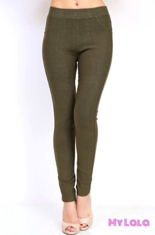 1 J04 Curvy Jeggings - Olive