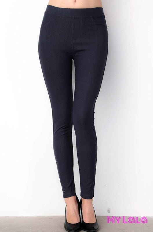 ONE SIZE JEGGINGS -  Size 3-12 (Navy) - My Lala Leggings, soft leggings, buttery soft leggings, one size leggings