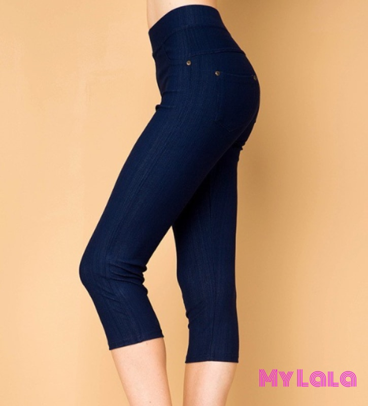 ONE SIZE JEGGINGS - Capri 3-12 (Denim) - My Lala Leggings, soft leggings, buttery soft leggings, one size leggings