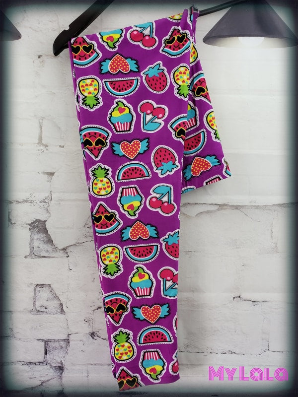 Extra Curvy Fruit Patch (20-26) - My Lala Leggings, soft leggings, buttery soft leggings, one size leggings