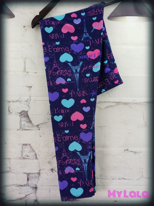Curvy I Heart Paris - My Lala Leggings, soft leggings, buttery soft leggings, one size leggings