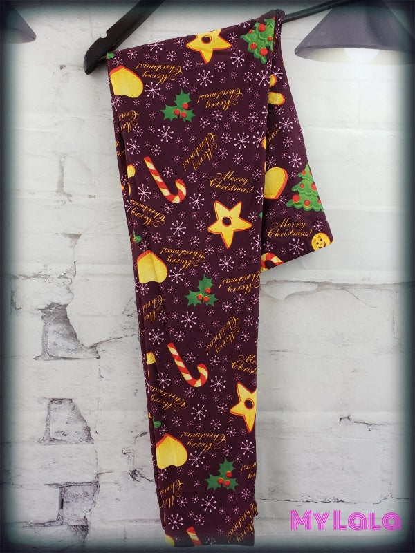 Curvy Retro Cookie - My Lala Leggings, soft leggings, buttery soft leggings, one size leggings