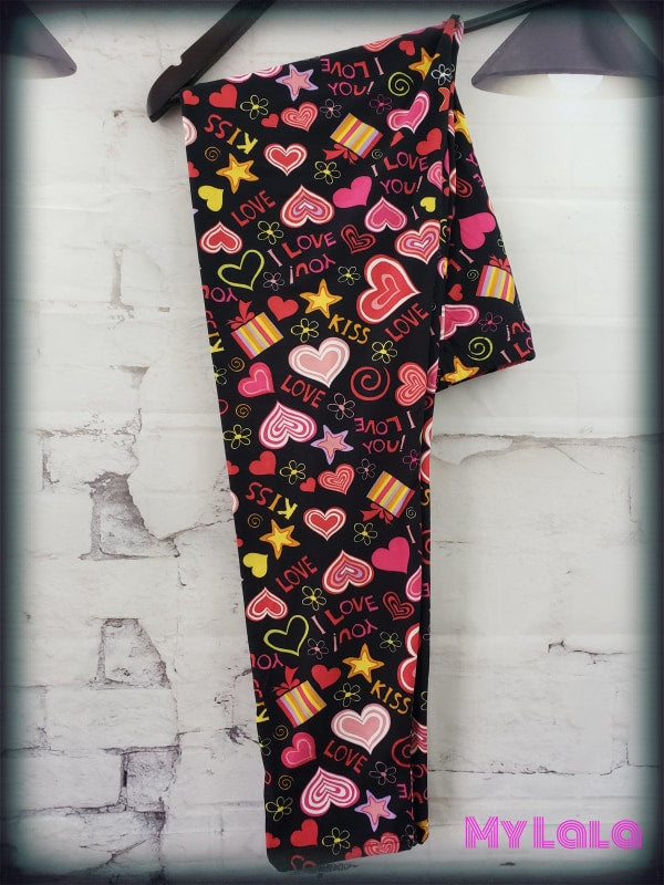 Curvy My Heart Is Yours - My Lala Leggings, soft leggings, buttery soft leggings, one size leggings