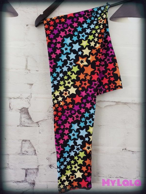 Rainbow  Estrella  OS - My Lala Leggings, soft leggings, buttery soft leggings, one size leggings