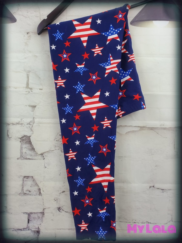 American Picnic OS - My Lala Leggings, soft leggings, buttery soft leggings, one size leggings