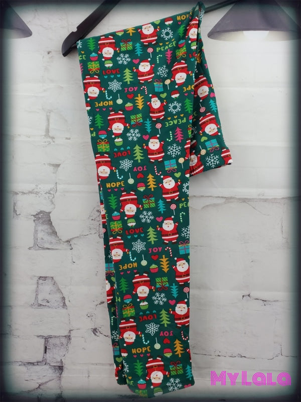 Extra Curvy Green Santa (20-26) - My Lala Leggings, soft leggings, buttery soft leggings, one size leggings