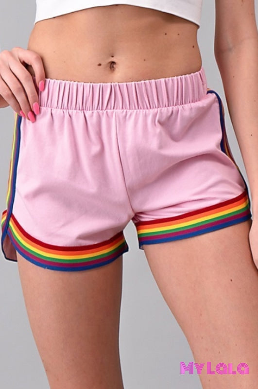 1 Jp34670 Rainbow Shorts (Chiffon Rose)