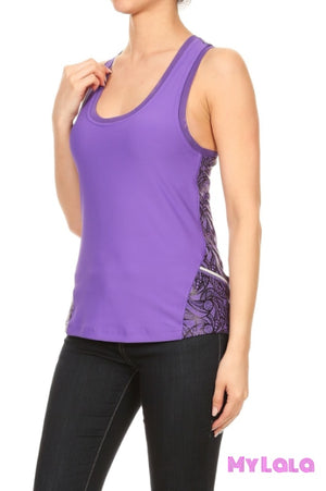 Activewear Tank (Purple) - My Lala Leggings, soft leggings, buttery soft leggings, one size leggings