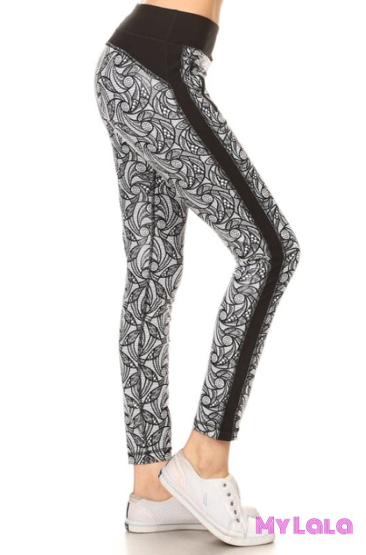 Lace Active Wear - My Lala Leggings, soft leggings, buttery soft leggings, one size leggings