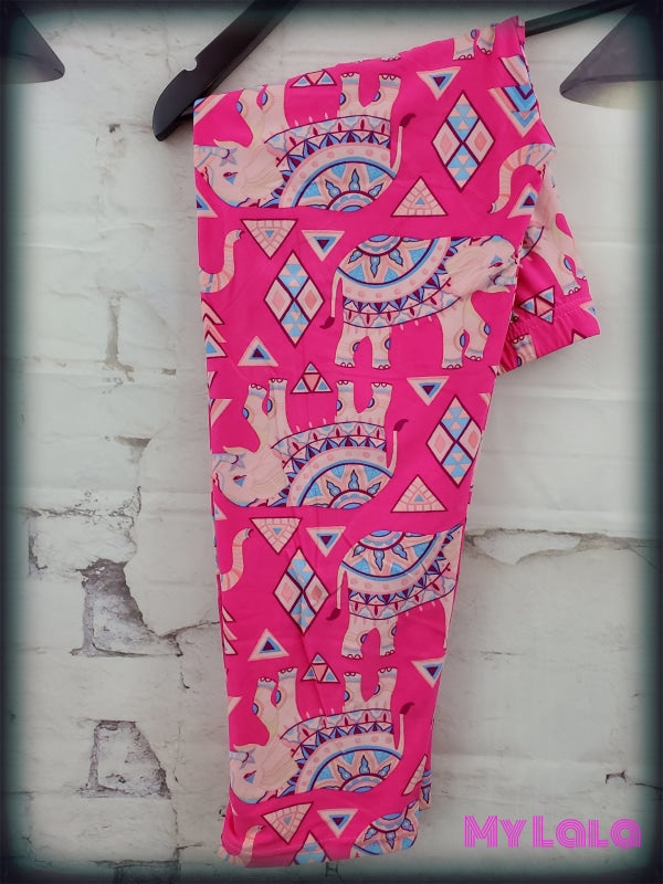 Capri - Curvy Hot Pink Elephant - My Lala Leggings, soft leggings, buttery soft leggings, one size leggings