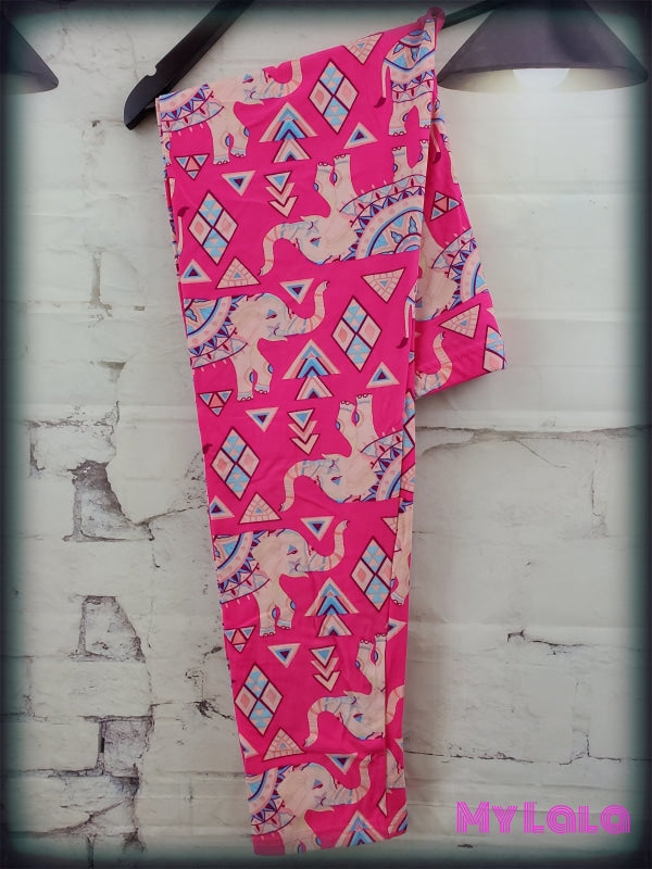 Extra Curvy Hot Pink Elephant (20-26) - My Lala Leggings, soft leggings, buttery soft leggings, one size leggings
