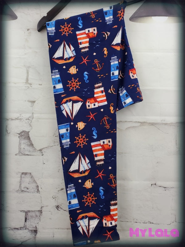 Curvy Lighthouse - My Lala Leggings, soft leggings, buttery soft leggings, one size leggings