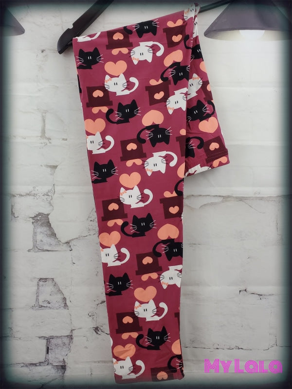 Extra Curvy Lovely Kitty (20-26) - My Lala Leggings, soft leggings, buttery soft leggings, one size leggings