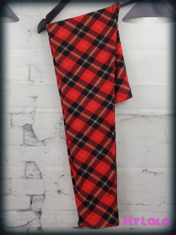 Classic Red OS - My Lala Leggings, soft leggings, buttery soft leggings, one size leggings
