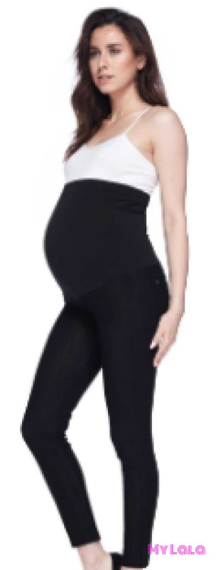 Maternity Jeggings OS (Black Denim) - My Lala Leggings, soft leggings, buttery soft leggings, one size leggings
