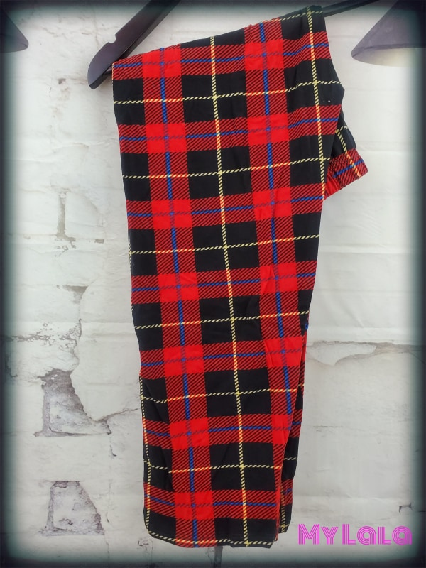 CAPRI - Plaid Fever OS - My Lala Leggings, soft leggings, buttery soft leggings, one size leggings