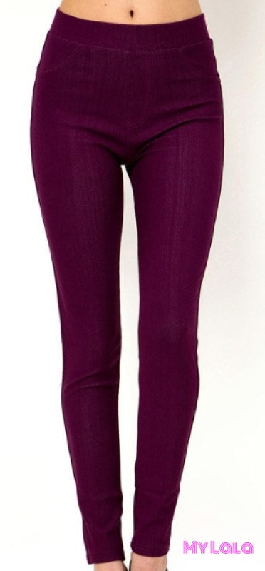 1 One Size Jeggings - Size 3-12 (Eggplant)